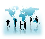 Global business. Business people in a background of world map..eps file is available Stock Image