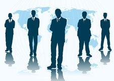Global business. Abstract silhouette vector of global business Royalty Free Stock Photography