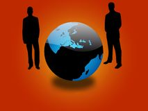 Global Business. A global business abstract illustration with smart businessmen Royalty Free Stock Image