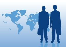 Global Business. Business men on the world Royalty Free Stock Image