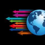 Global business arrow Vector illustration. Royalty Free Stock Photo