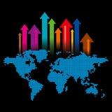 Global business arrow Vector illustration. Royalty Free Stock Photos