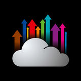 Global business arrow Vector illustration. With cloud Stock Photography