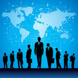 Global business background with arrows Royalty Free Stock Image