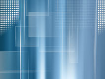 Global business background blue - abstract technology and finance template. Abstract blue modern background with white lines and squares Royalty Free Stock Images