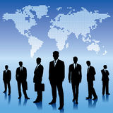 Global business background, with businessmen team Stock Images