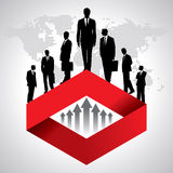 Global business background with businessmen team Stock Photography