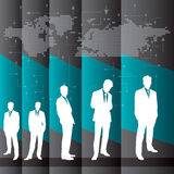 Global business background with businessmen team Stock Photo