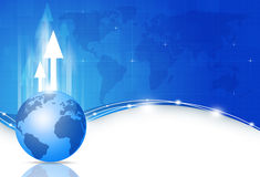 Global Business Blue Background Royalty Free Stock Photo