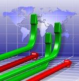 Global business charts Stock Image