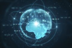 Global business and communication backdrop. Creative digital globe backdrop. Global business and communication concept. 3D Rendering Stock Image