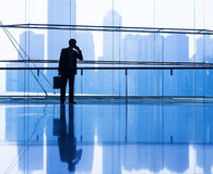 Global Business Communication in the City Stock Photo
