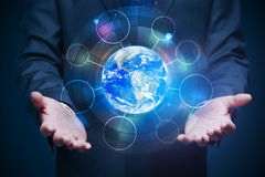 Global business and communication concept Stock Photo