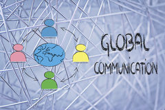 Global business communication Royalty Free Stock Image