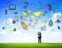 Global Business Communications with Infographic.  Stock Images