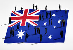 Global Business Concept with Australian Flag Stock Images