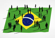 The Global Business Concept : Brazil Stock Image