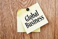 Global Business. Concept Writing On Note Paper Royalty Free Stock Photo