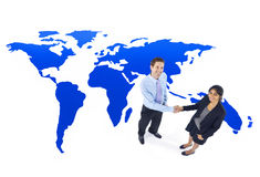 Global Business Cooperation Handshake Concept Royalty Free Stock Images