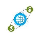Global Business creative logo, unique vector symbol Stock Image