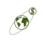Global Business creative logo, unique vector symbol created with. Different elements. Global Financial System. World Economy Stock Photo