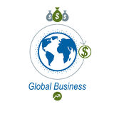 Global Business creative logo, unique vector symbol created with Stock Photography
