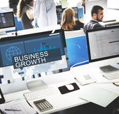 Global Business Data Analysis Growth Success Concept Stock Photography