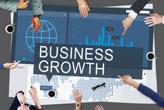 Global Business Data Analysis Growth Success Concept Royalty Free Stock Photography