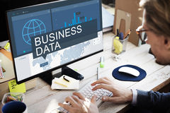 Global Business Data Analysis Growth Success Concept Stock Photo