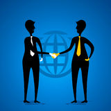 Global business deal concept. Global business deal or partnership concept vector Royalty Free Stock Photography
