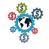 Global Business and E-Business creative logo, unique vector symb Stock Photography