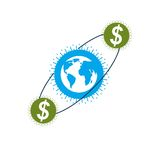 Global Business and E-Business creative logo, unique vector symb Royalty Free Stock Images