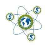 Global Business and E-Business creative logo, unique vector symb Stock Photos