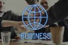 Global Business Enterprise Economics Corporation Concept Stock Image
