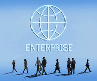 Global Business Enterprise Economics Corporation Concept stock photos