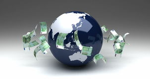 Global Business with Euro stock video