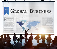 Global Business Export Import Networking Growth Concept royalty free stock photo
