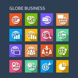 Global Business Finance icon Royalty Free Stock Image