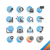 Global Business Finance icon  - Simplicity Series. Three color version icons Stock Photography