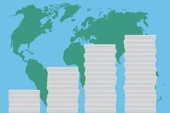 Global business finance map money Stock Photos