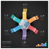 Global Business And Financial Infographic With Arrow Round Circl. E Diagram Royalty Free Stock Photography