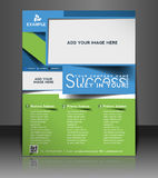 Global Business Flyer Design. Global Business Flyer & Poster Template Design Royalty Free Stock Photo