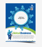 Global Business Flyer Design Royalty Free Stock Image