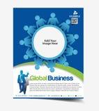 Global Business Flyer Design Royalty Free Stock Image