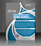 Global Business Flyer Design Stock Photo