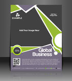 Global Business Flyer Design Royalty Free Stock Photography