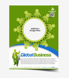 Global Business Flyer Design Stock Photography