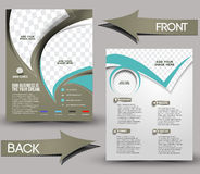 Global Business Flyer. Global Business Front & Back Flyer Template Royalty Free Stock Photography