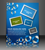 Global Business Flyer Royalty Free Stock Photo