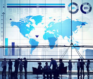 Global Business Graph Growth World Map Concept Stock Image